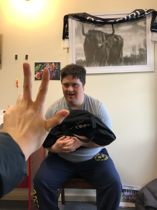 Jacob is again seeing his NDIS exercise physiologist Bianca face to face